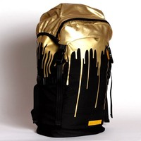 Gold Drips Top Loader Backpack - $80