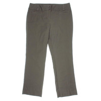 Style & Co. Womens Petites Flat Front Trouser Leg Casual Pants