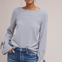 Shine Tie-Cuff Sweater