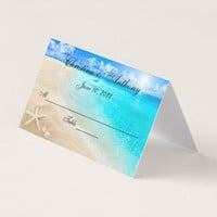 Starfish On The Beach Wedding Reception Place Card