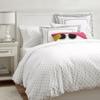 Metallic Dottie Duvet Cover + Sham