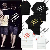 Print Round-neck Summer Vintage Strong Character Couple Short Sleeve T-shirts