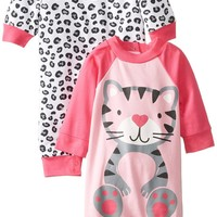 Gerber Baby-Girls Newborn 2 Pack Coverall, Leopard