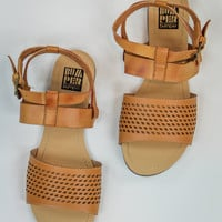 Double Strap Sandal in Tan