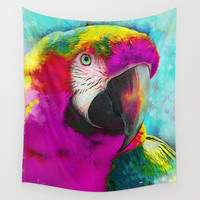 parrot ara art #ara #parrot #animals Wall Tapestry by jbjart