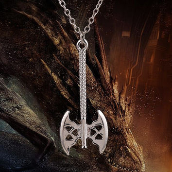Lord of the Rings Lord Dwarf Gimli Axe Pendant Necklace