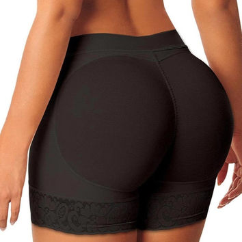 Woman Boyshort Padded Panties  Ladies Seamless Fake Ass Hip Enchance Underwear Women Butt Trainer Lifter Body Shaper GS