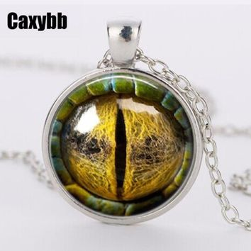 Three-dimensional eye of the dragon Necklace Pendant colorful eye pendant Dome Glass Cabochon Necklaces jewelry Best Selling