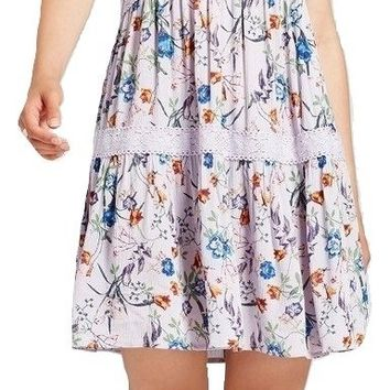 Women's Junior's Babydoll Shift Dress, Lilac, Small (3/5)