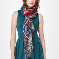 Aztec Patterned Scarf