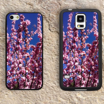 Cherry blossoms iPhone Case-Pink sakura iPhone 5/5S Case,iPhone 4/4S Case,iPhone 5c Cases,Iphone 6 case,iPhone 6 plus cases,Samsung Galaxy S3/S4/S5-267