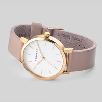 Polished Rose Gold / White Face/ Blush Leather Watch