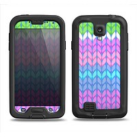 The Bright-Colored Knit Pattern Samsung Galaxy S4 LifeProof Nuud Case Skin Set