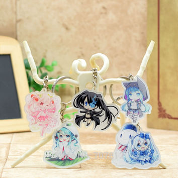 Hatsune Miku acrylic Keychain Action Figure Pendant Car Key Accessories Cute Japanese Anime Game Collection CY001 LTX1
