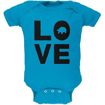 Turtle Love Soft Baby One Piece