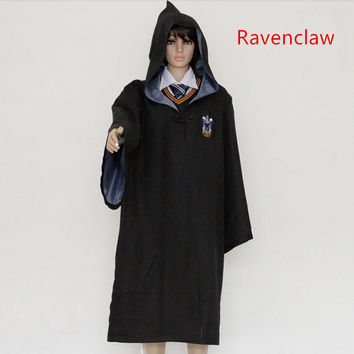 Harry Potter Costumes Robe Gryffindor Cosplay Costume Kids Adult Harry potter Robe cloak 4 styles Halloween Gift 11 SIZE
