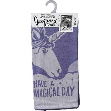 Have A Magical Day Dish Towel with Unicorn Design