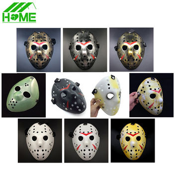 Jason vs Friday The 13th Horror Hockey Cosplay Costume Halloween Killer Masquerade Ball Mask Scary Lace Mask Anonymou Masks