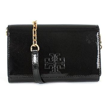 Tory Burch Charlie Patent Leather Flat Wallet Crossbody, Style No. 34050