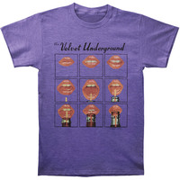 Velvet Underground Men's  Lips T-shirt Purple