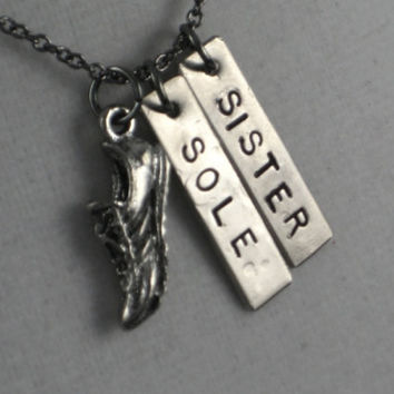 SOLE SISTER Necklace Running Necklace on 18 inch by TheRunHome
