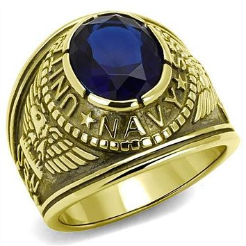 WildKlass Stainless Steel Navy Ring IP Gold(Ion Plating) Men Synthetic Montana