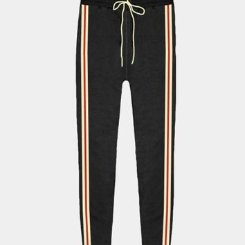 Two Tone Stripe Sweatpant