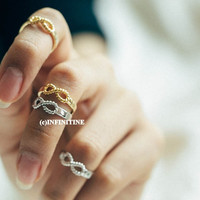 Twisted infinity best friends ring,best friend infinity twist rings,best friends rings,infinity rings,infinity jewelry,twist ring