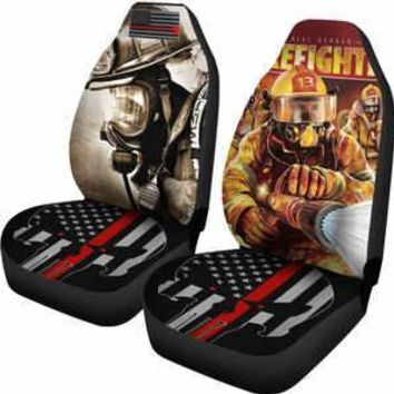Firefighter Thin Red Line Punisher Car Seat Cover