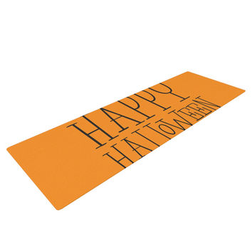 "KESS Original ""Happy Halloween - Orange"" Yoga Mat"