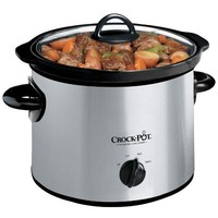 Crock-Pot 3-Quart Round Manual Slow Cooker, Stainless Steel, SCR300SS
