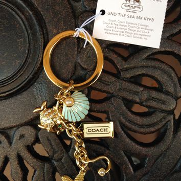 Coach Under the Sea Charm Limited Edition Keychain - NWT