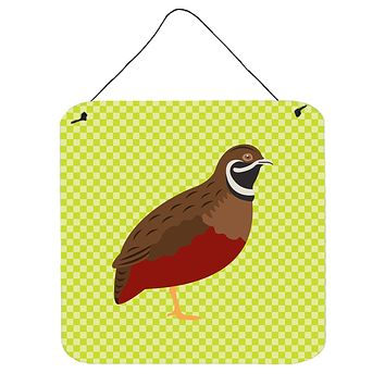 Chinese Painted or King Quail Green Wall or Door Hanging Prints BB7782DS66