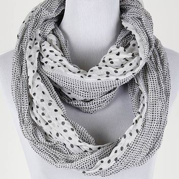 Polka Dotted Infinty Scarves
