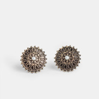 Spiraling Out Earrings - $9.00 : ThreadSence, Women's Indie & Bohemian Clothing, Dresses, & Accessories