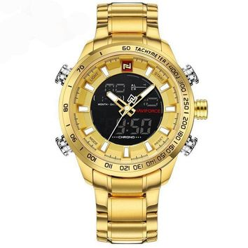 Military Style Waterproof Quartz Watch