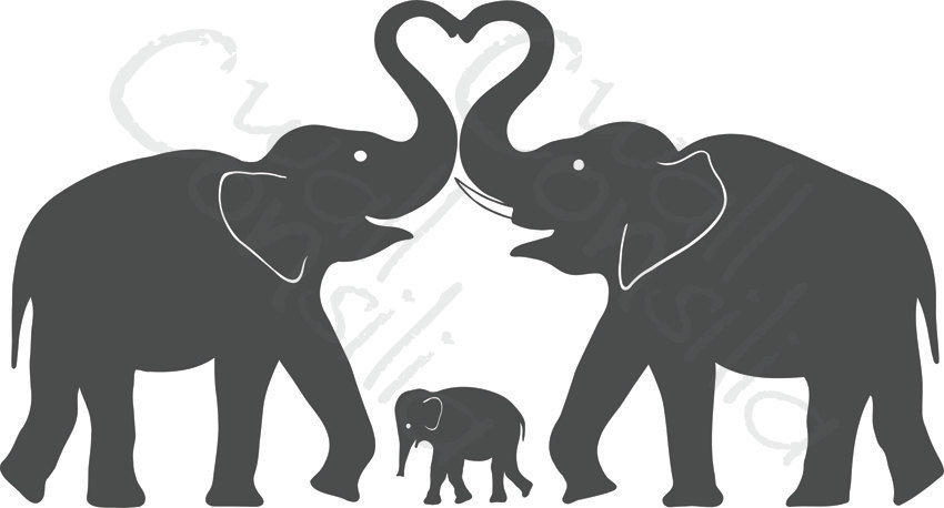 Elephant Wall Decal Elephant Heart Decal From Wallconsilia On
