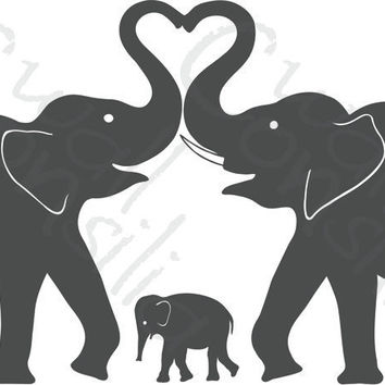 Elephant Wall Decal  Elephant Heart Decal  Nursery by WallConsilia