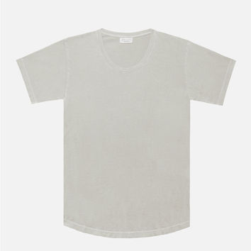 Washed Curve U-Neck / Clay