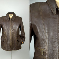 1930s Goatskin Ball & Chain Zip Sportsman Car Coat