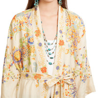 FLORAL SILK DUSTER