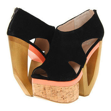Dolce Vita Women's Black Suede Wedge Heels