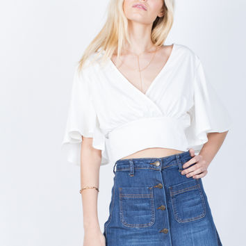 Ruffle Around Crop Top