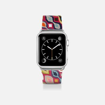 carnival ikat red apple watch band Apple Watch Band (38mm)  by Sharon Turner | Casetify