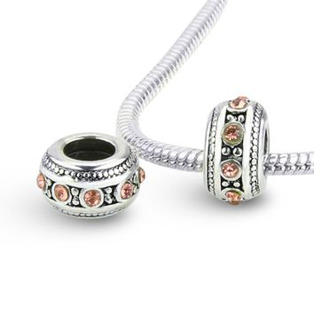 V YA Amazing European Beads Charms fit for Pandora Bracelets Necklaces Loose Bead for Men Women DIY  Charm for Jewlery Making
