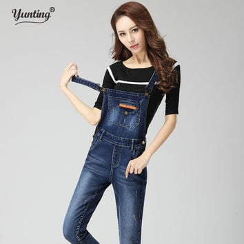 Denim Rompers Womens Jumpsuit Jeans Overalls Elegant  Denim Overalls Women Slim Elegant Sexy Ladies Playsuit Trousers Jumpsuit