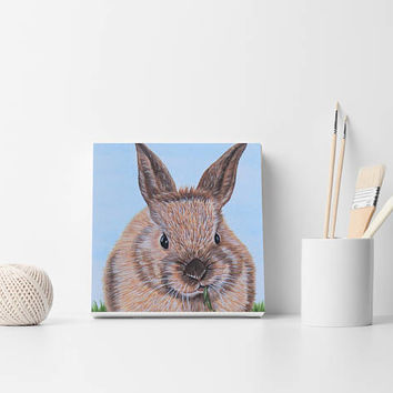Custom portrait Bunny painting Custom bunny portrait Oil painting Bunny from photo Bunny lovers gift Nursery wall decor Fine art Rabbit art