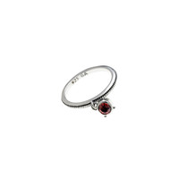 Kamon Sterling Silver And Birthstone Stack Ring