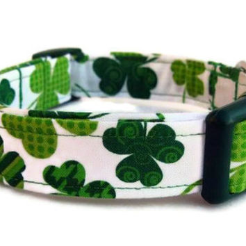 Dog Collar - St. Patrick's Day Shamrocks