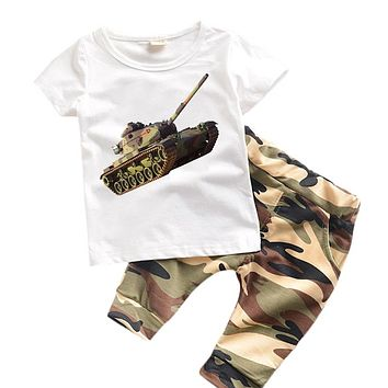 0-6 years Kids Clothes Summer Boys Clothes Set  Kids Suits  Camouflage Toddler Clothing